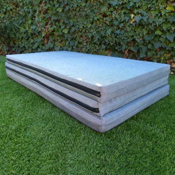 Colchón plegable de 180cm y ancho a elegir