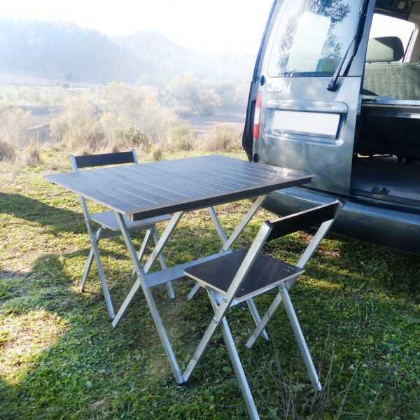 Conjunto de soporte de mesa y sillas