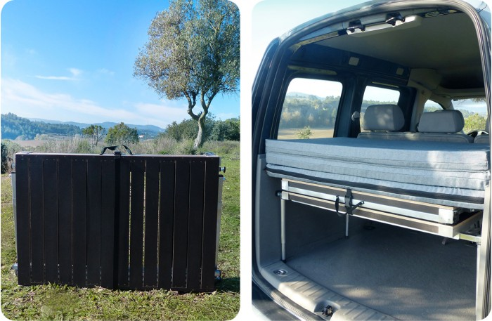 Folding bed for campervans easy to install