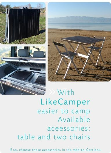 Bedspring transforms to a camping table